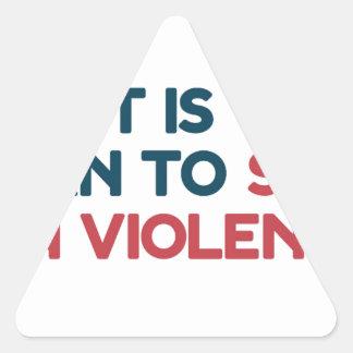 Sticker Triangulaire Arrêtez la violence armée