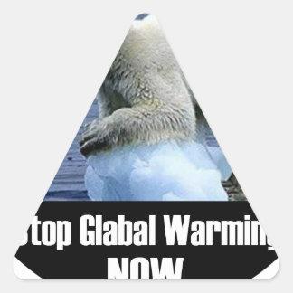 Sticker Triangulaire Arrêtez le réchauffement climatique maintenant