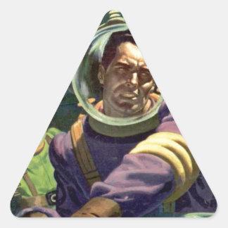 Sticker Triangulaire Arrêtez l'eau !
