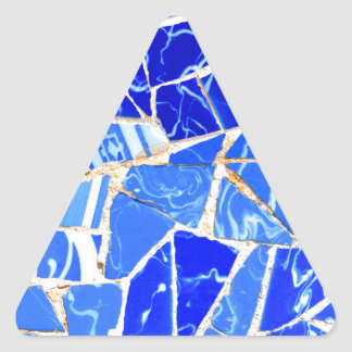 Sticker Triangulaire Arrière - plan bleu abstrait