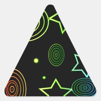 Sticker Triangulaire Arrière - plan d'étoiles