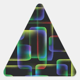 Sticker Triangulaire Arrière - plan vibrant