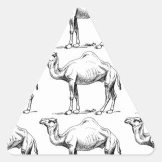 Sticker Triangulaire Art de troupeau de chameau