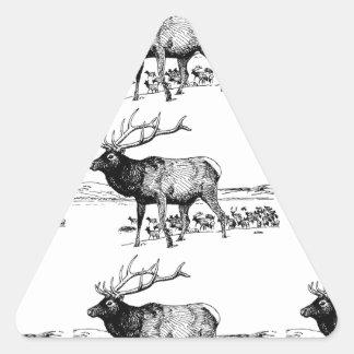 Sticker Triangulaire art de troupeau d'élans ouais