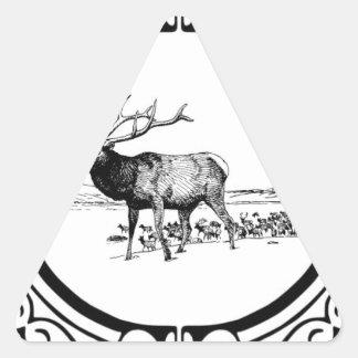 Sticker Triangulaire art d'élans dans le cadre