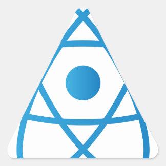 Sticker Triangulaire Atome d'isolement par résumé