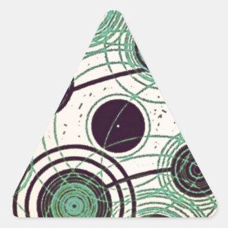 Sticker Triangulaire atomes et électrons