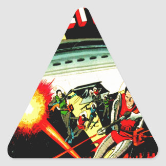 Sticker Triangulaire Attaque sur la planète Mars