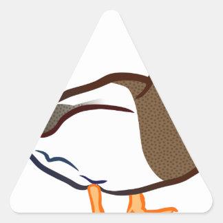 Sticker Triangulaire Attente de canard