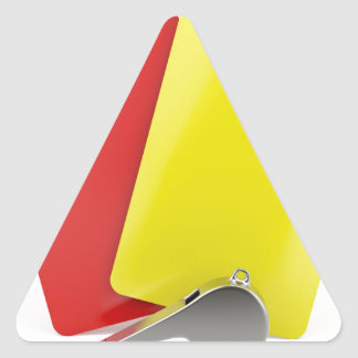 Sticker Triangulaire Attributs d'arbitre du football