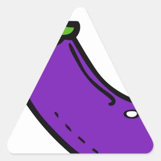 Sticker Triangulaire Aubergine