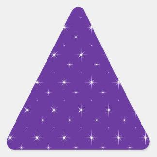 Sticker Triangulaire Aubergine, violette, indigo et profil sous