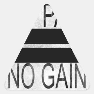 Sticker Triangulaire Aucune douleur aucun gain