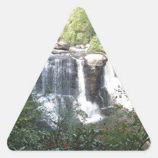 Sticker Triangulaire Automnes de Blackwater, la Virginie Occidentale