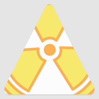 Sticker Triangulaire Avertissement radioactif