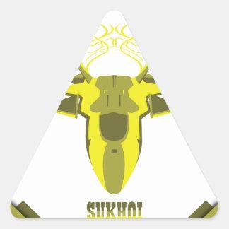 Sticker Triangulaire Avion