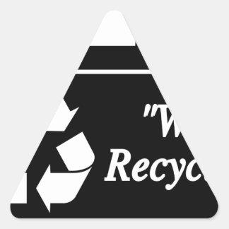 Sticker Triangulaire Bac de recyclage