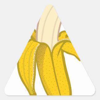 Sticker Triangulaire Banane épluchée