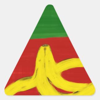 Sticker Triangulaire Banane pop art