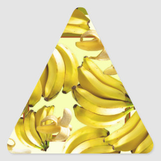 Sticker Triangulaire bananes jaunes