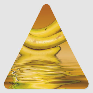 Sticker Triangulaire Bananes jaunes mûres