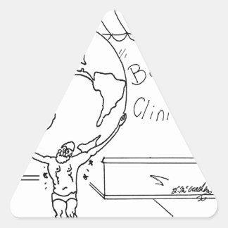 Sticker Triangulaire Bande dessinée 6475 de chiroprakteur