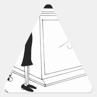 Sticker Triangulaire Bande dessinée 6485 de divorce
