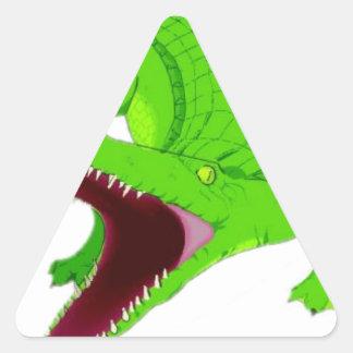 Sticker Triangulaire bande dessinée d'alligator
