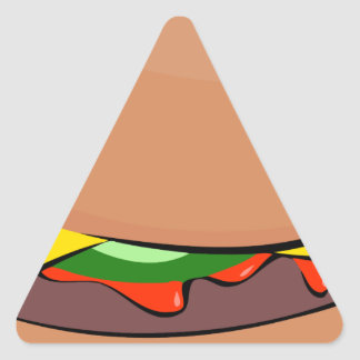 Sticker Triangulaire Bande dessinée de cheeseburger
