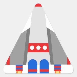 Sticker Triangulaire Bande dessinée de vaisseau spatial