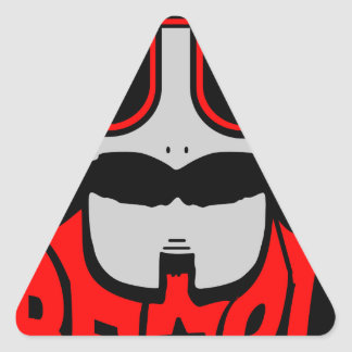 Sticker Triangulaire barbe rouge