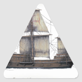 Sticker Triangulaire Bateau d'or de 1578 Hinde