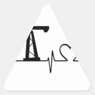 Sticker Triangulaire Battement de coeur de Jack de pompe