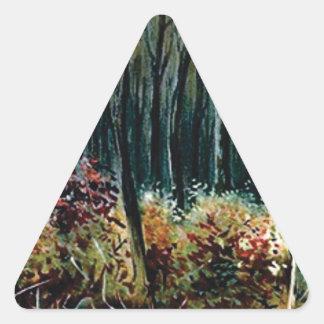 Sticker Triangulaire beauté dans les bois