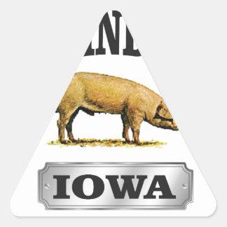 Sticker Triangulaire bébé d'industrie de porcs