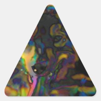Sticker Triangulaire Berger psychédélique