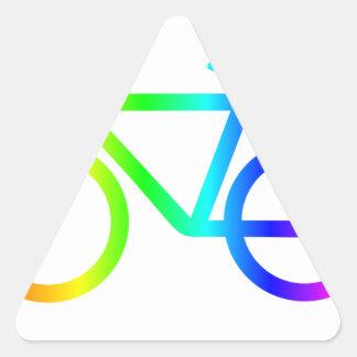 Sticker Triangulaire Bicyclette 3 d'arc-en-ciel