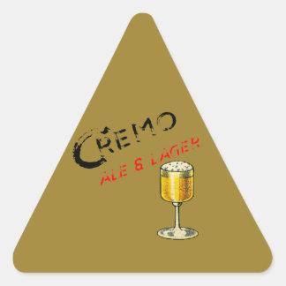 Sticker Triangulaire Bière de bière anglais de Cremo et blonde