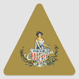 Sticker Triangulaire Bière pâle de Colombie