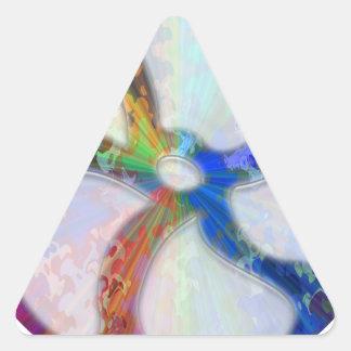 Sticker Triangulaire Bijoux de scintillement cosmiques de Blueray