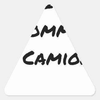 Sticker Triangulaire BIO COMME UN CAMION ? - Jeux de mots