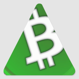 Sticker Triangulaire Bitcoin