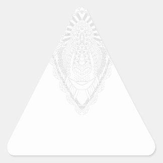 Sticker Triangulaire Blanc de style de mandala de dessin de RAM