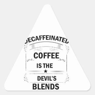 Sticker Triangulaire boisson drôle de café