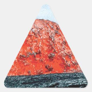 Sticker Triangulaire bosse d'écoulement de lave