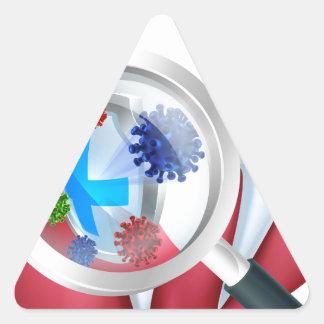 Sticker Triangulaire Bouclier de dent de protection