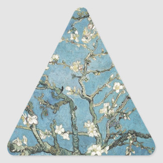 Sticker Triangulaire Branches d'amande de Vincent van Gogh | en fleur,