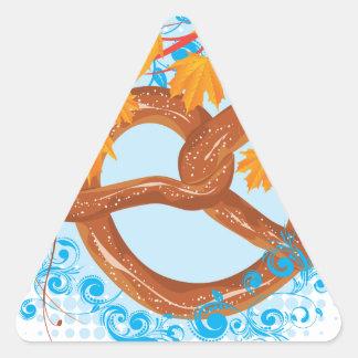 Sticker Triangulaire Bretzel savoureux de bande dessinée