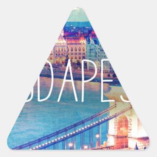Sticker Triangulaire Budapest, vintage affiche