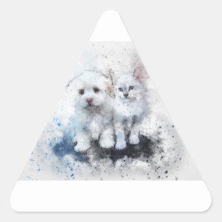 Sticker Triangulaire Cadeaux animaux mignons